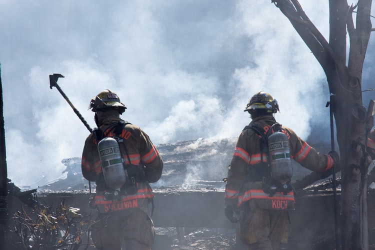this image shows firefighters on how to find a blue collar job